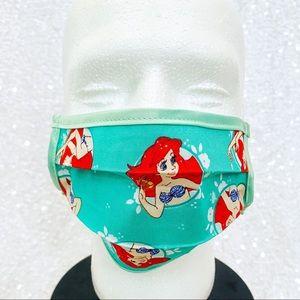 🔴4/$25 ariel little mermaid green child face mask